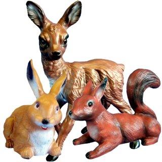Tierfiguren Reh Hase Eichhornchen Im Set